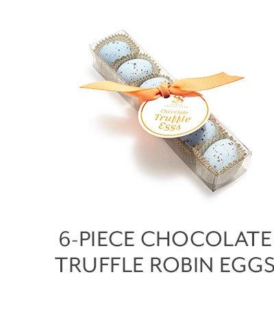 6-PC Chocolate Truffle Robin Eggs