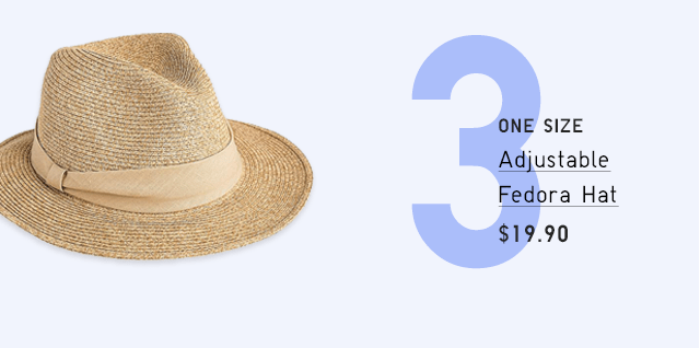 ADJUSTABLE FEDORA HAT $19.90