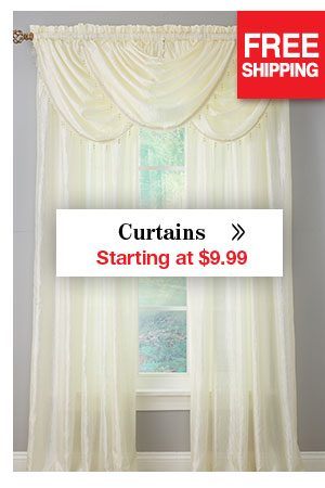Shop Curtains Starting at $9.99