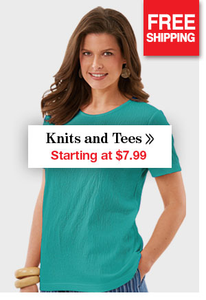 Shop Women's Knits and Tees Starting at $7.99