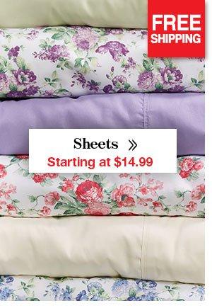 Shop Sheets Starting at $14.99