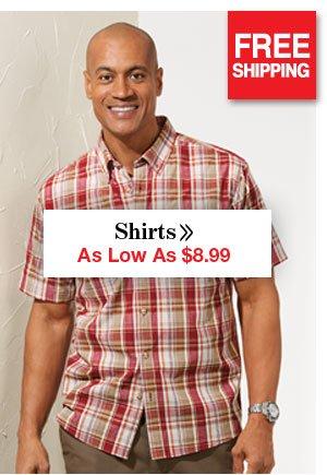 Shop Men's Shirts As Low As $8.99