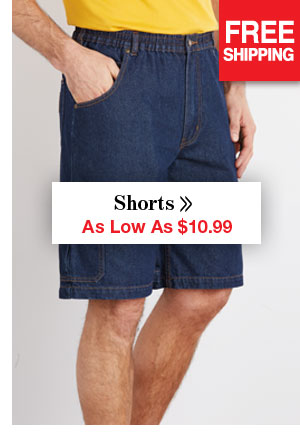 Shop Men's Shorts As Low As $10.99