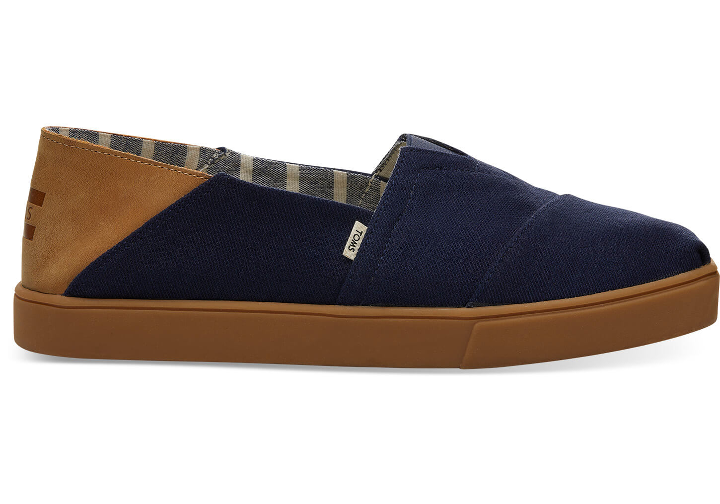 Navy Textured Twill Convertible Cupsole Mens Classics Venice Collection