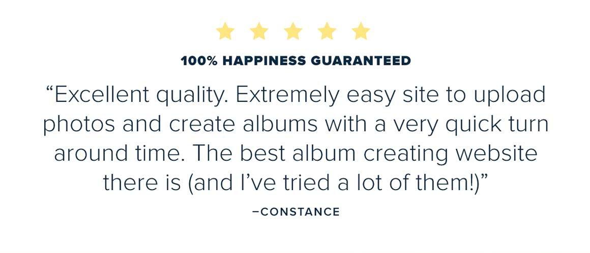 100% Happiness Guaranteed - Create Now
