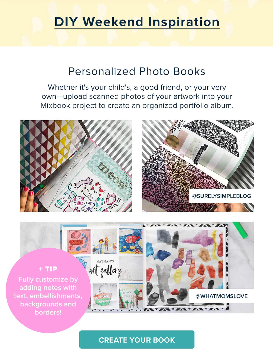 DIY Weekend Inspiration - Personalized Photo Books - Create Now