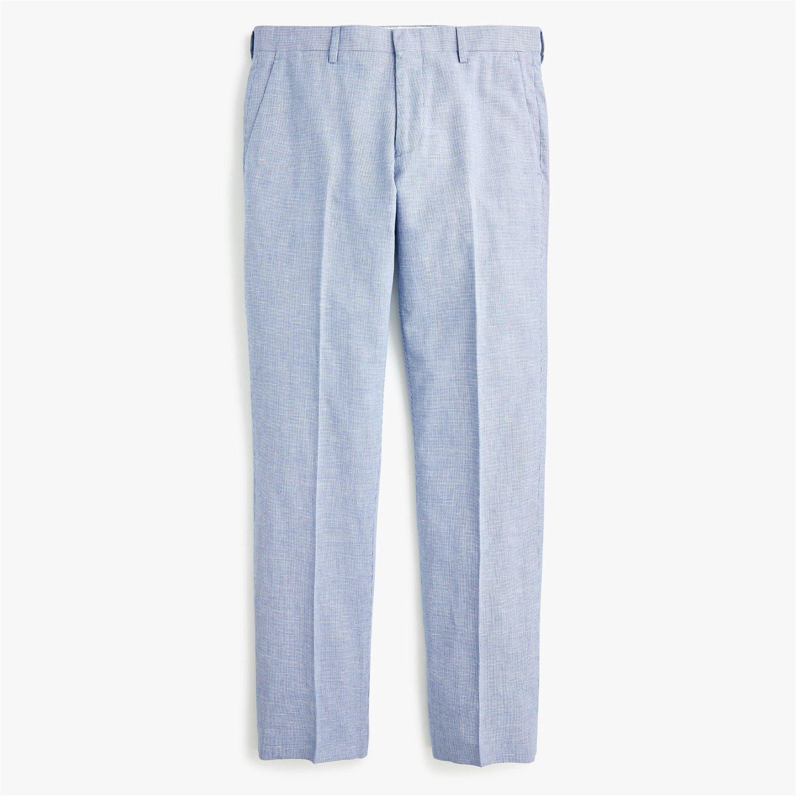 Ludlow Slim-fit unstructured suit pant in cotton-linen