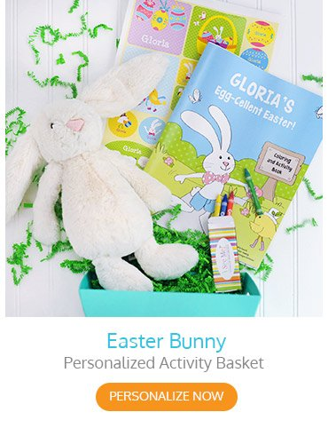 Easter Bunny Personalized Activity Basket
