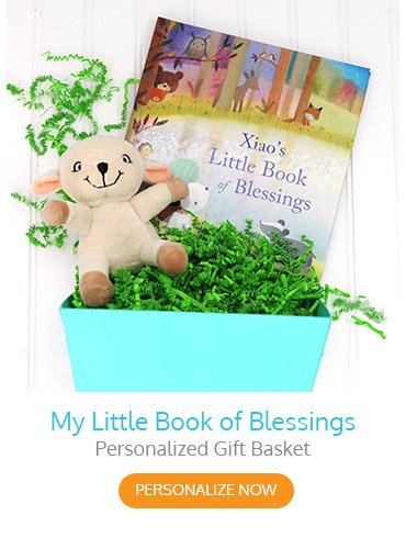 My Little Book of Blessings Personalized Gift Basket