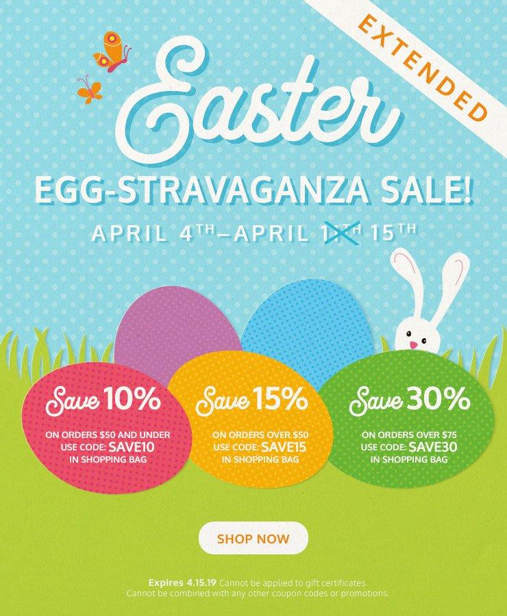 Easter Egg-stravaganza Sale