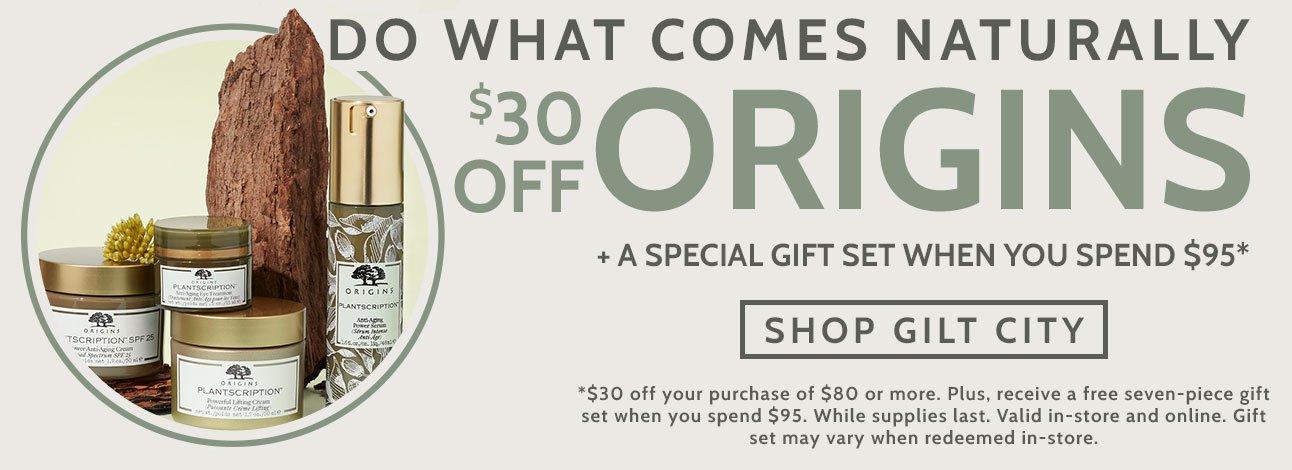 $30 Off at Origins