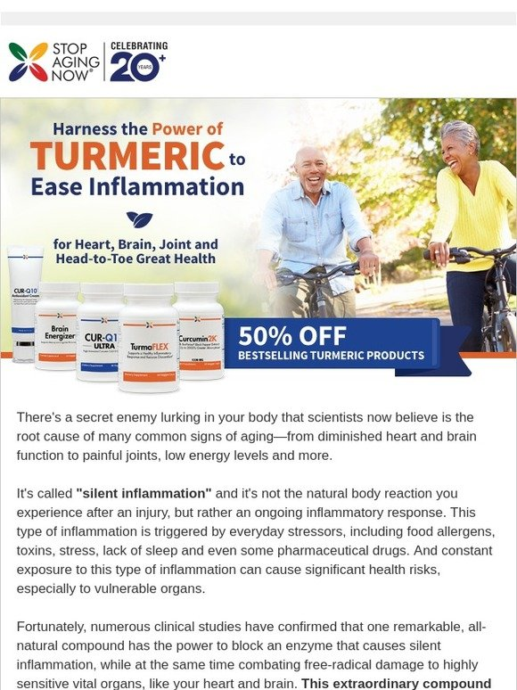 Stop Aging Now: Turmeric - One of the Most Effective Nutrients on
