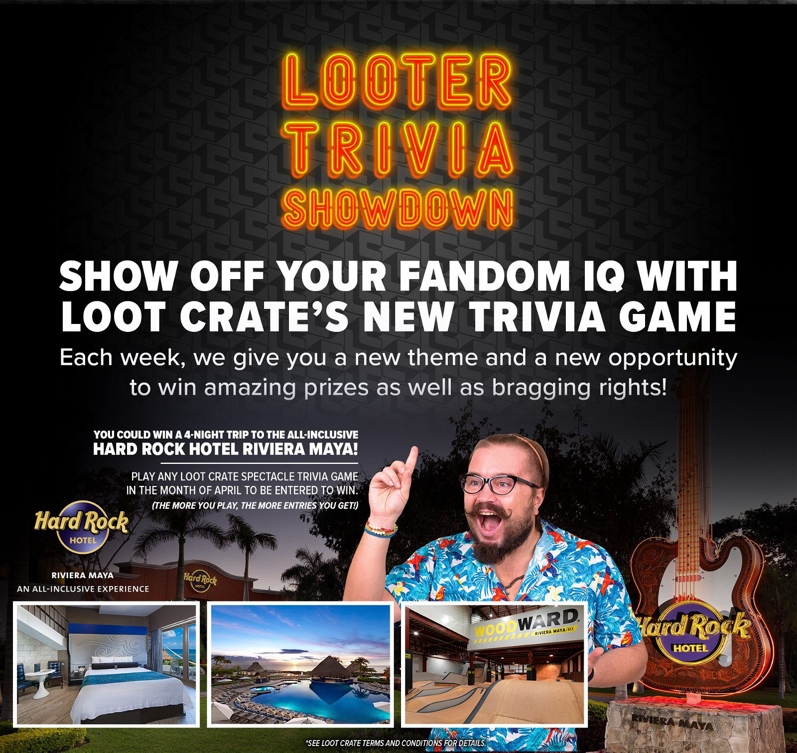 Loot Crate: 🎸Play trivia to win a 4-night trip to the Hard Rock