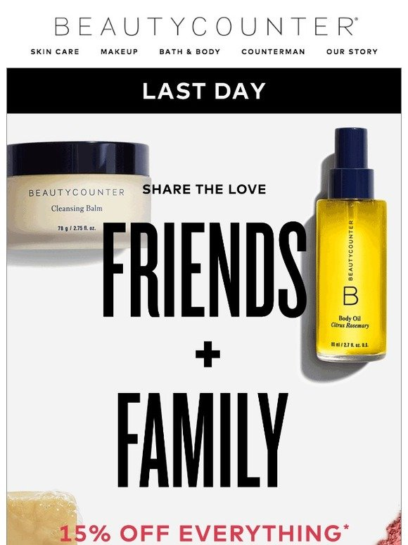 Beautycounter: Last day! 15% off is going, going… | Milled