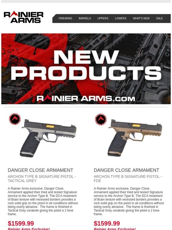 Rainier Arms: New Products Have Arrived! | Milled