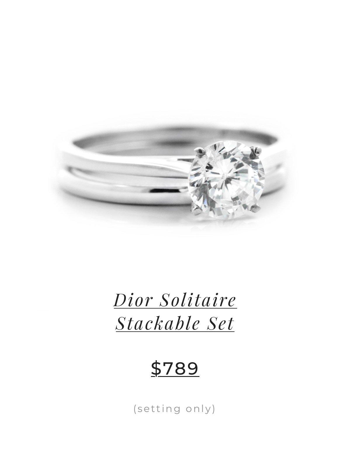 Dior Solitaire Stackable Set