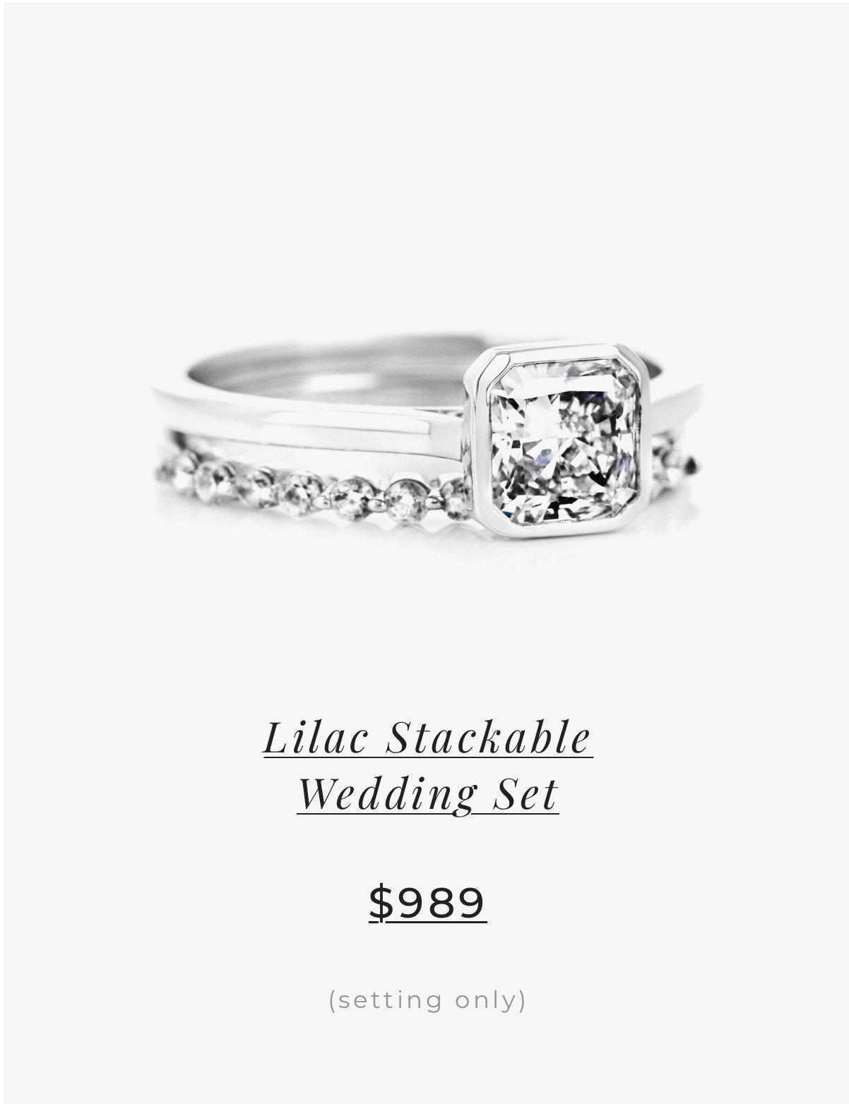 Lilac Stackable Wedding Set