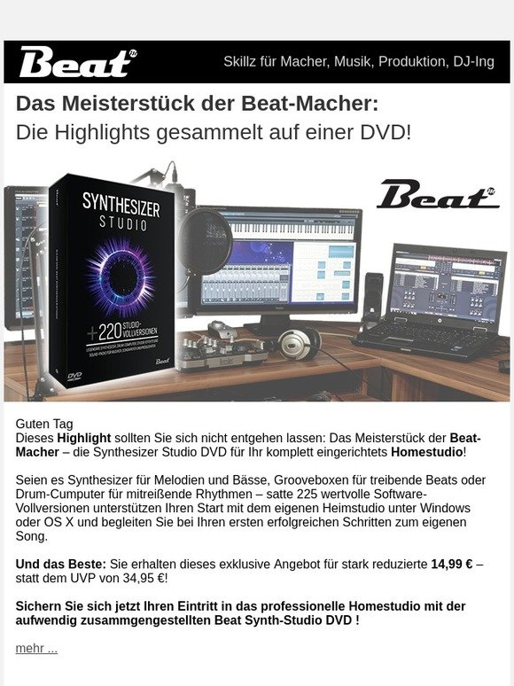 Falkemedia: Synthesizer Studio Power-Deal: Die Beat