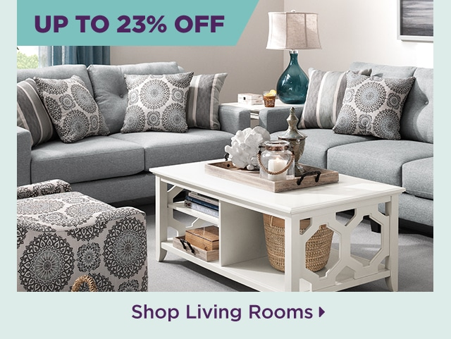 Save up to 23% on living room furniture
