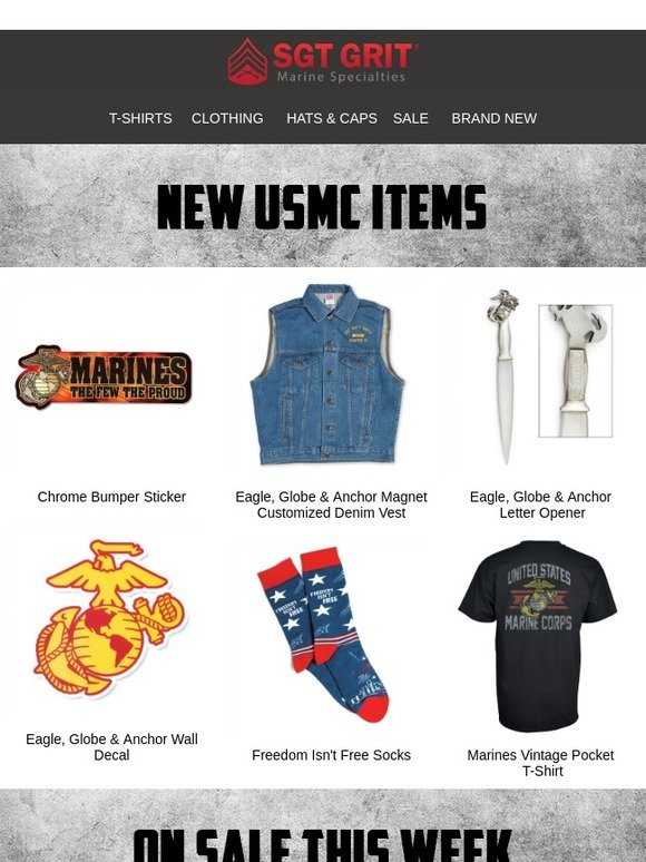 Sgt  Grit Marine Specialties: New Items This Week   Milled