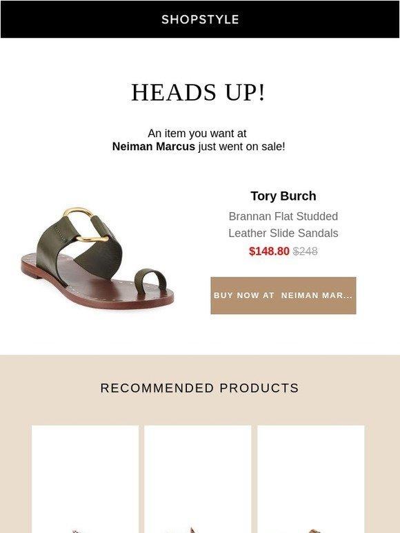 7e14496b4 ShopStyle  Sale Alert  Brannan Flat Studded Leather Slide Sandals ...