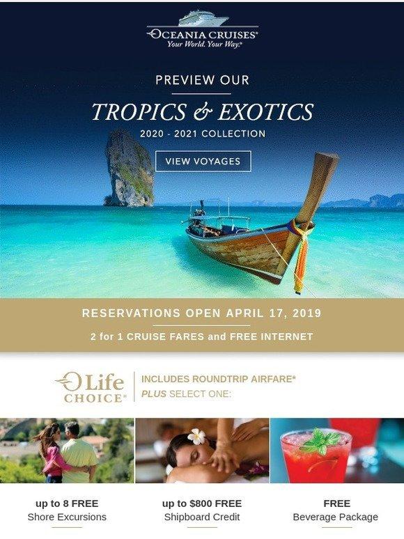 Oceania Cruises: Preview our 2020-2021 Tropics & Exotics
