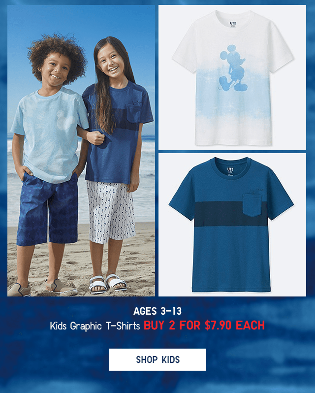 KIDS GRAPHIC T-SHIRTS - BUY 2+ FOR $7.90 EACH