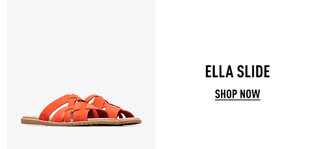 A pair of spring Ella slides on a white background