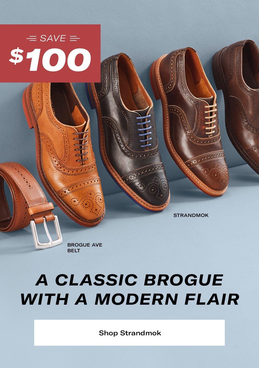 A Classic Brogue With a Modern Flair. Save $100 on Strandmoks