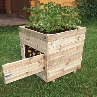 Wooden Square Potato Planter