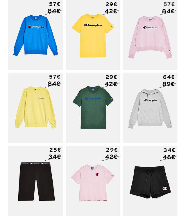 Up to 30% off Champion sportswear