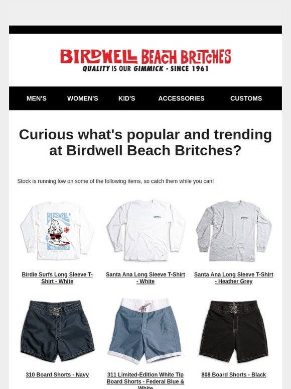 f34c6d3b54 Birdwell Beach Britches: Something catch your eye? | Milled