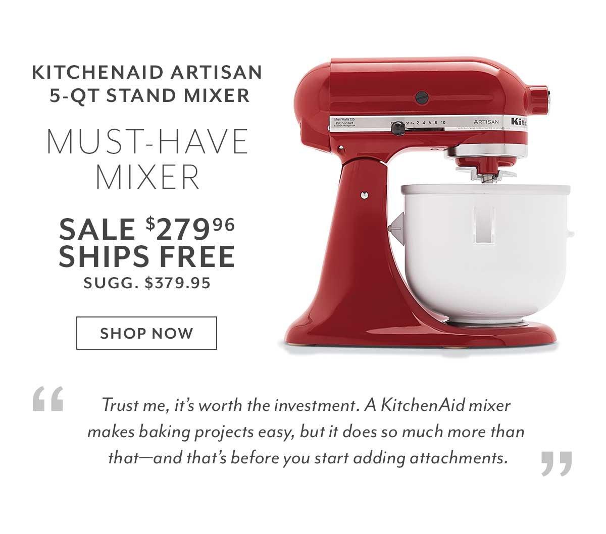 KitchenAid Artisan 5-QT Stand Mixer