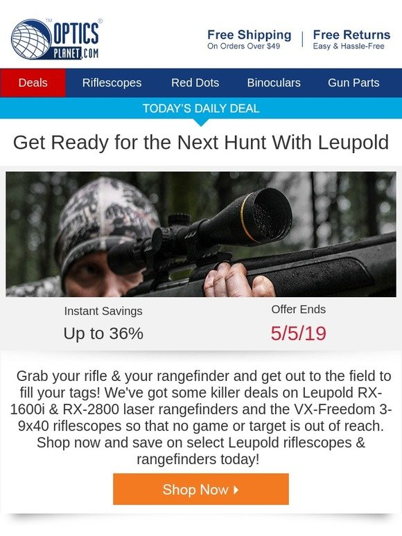 OpticsPlanet: Get Ready for the Hunt With Leupold   Milled
