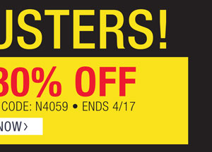DOORBUSTERS! EXRA 30% OFF SELECT STYLES. PROMO CODE N4059. ENDS 4/17