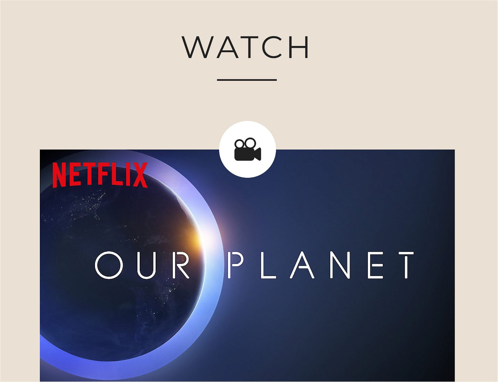 WATCH   Netflix Our Planet