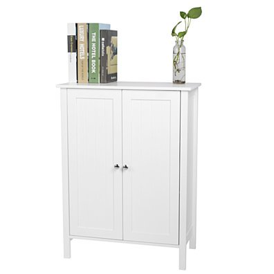 Double Doors Bathroom Cabinet White