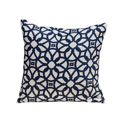 Loraine Luxe Indigo Acrylic 18 x 18 Accent Pillow
