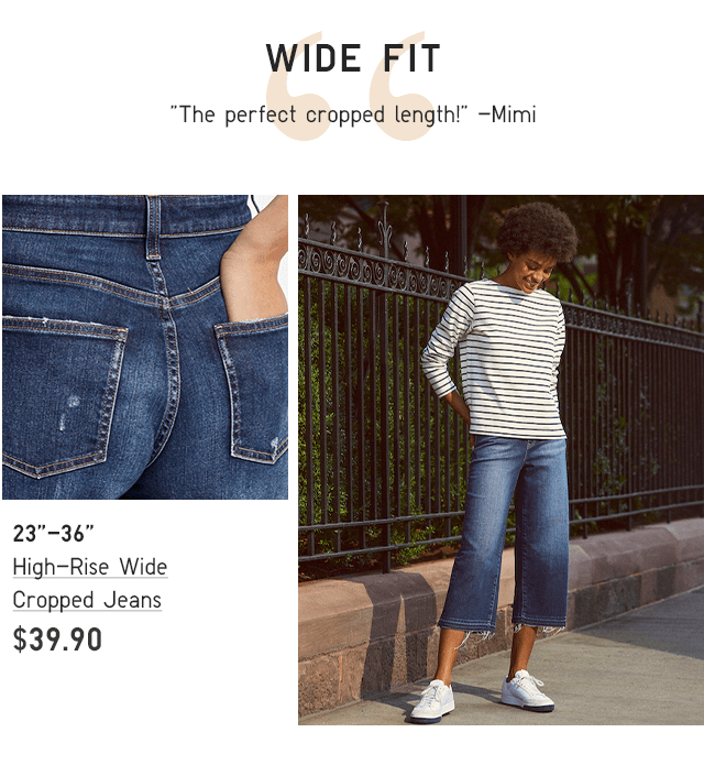 BODY4-HIGH RISE WIDE CROPPED JEANS