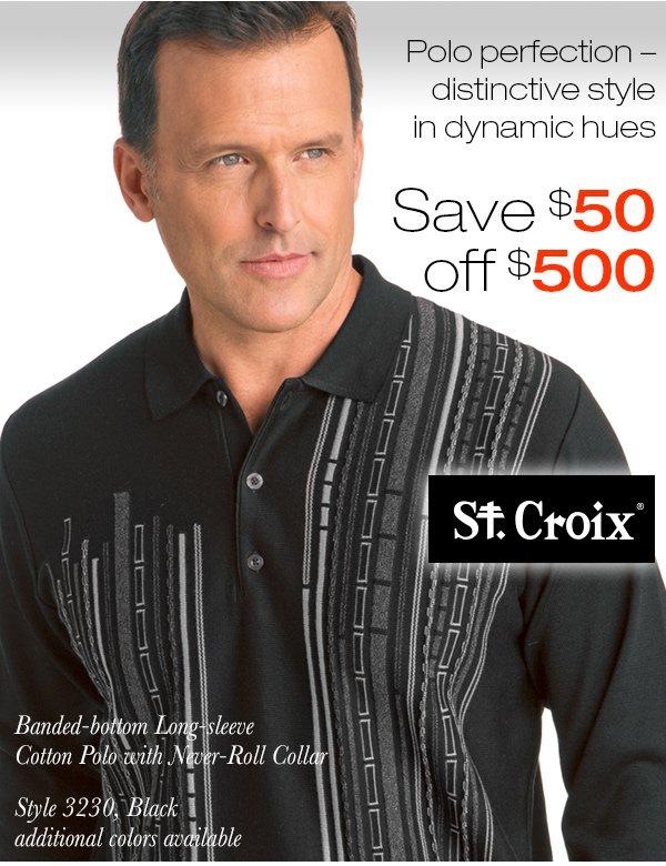 Dashed Stripe Cotton Polo - Style 3230