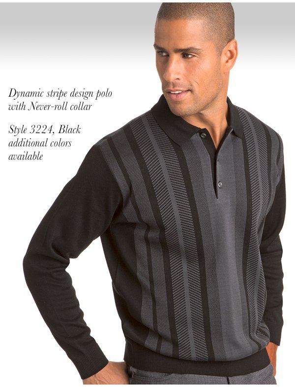 Dynamic Stripe Cotton Polo - Style 3224