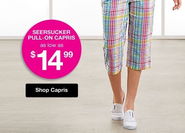 Shop Seersucker Pull-On Capris!