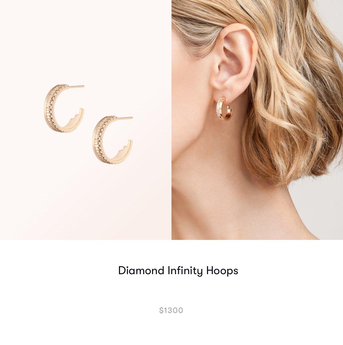 Diamond Infinity Hoops