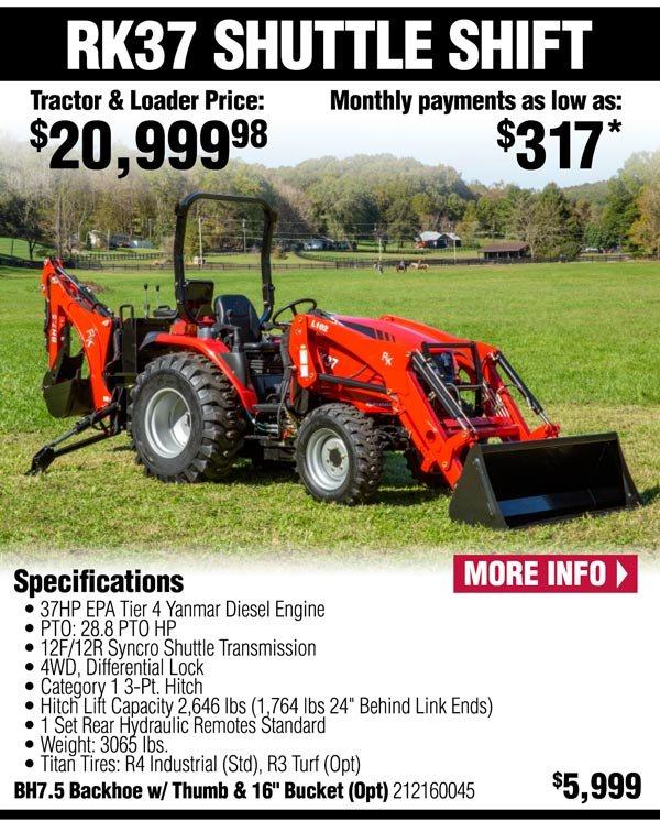 Rural King com: RK Tractors: See Them In Action! | Milled