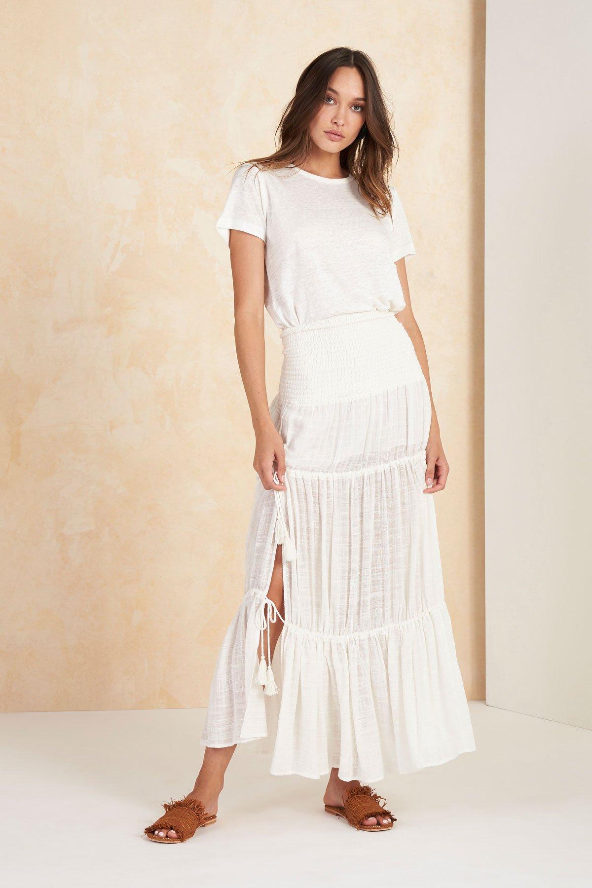 Image of Paradalis Maxi Skirt - White