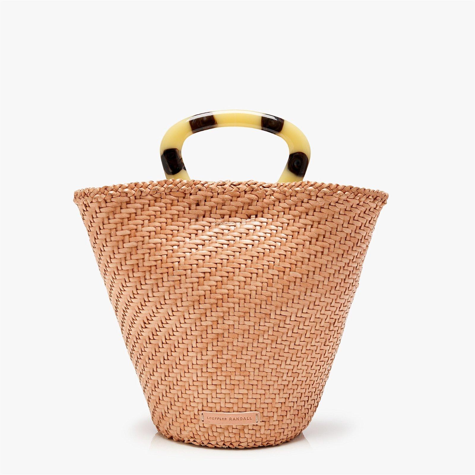 Loeffler Randall® Agnes Woven Fan Tote Bag in blush