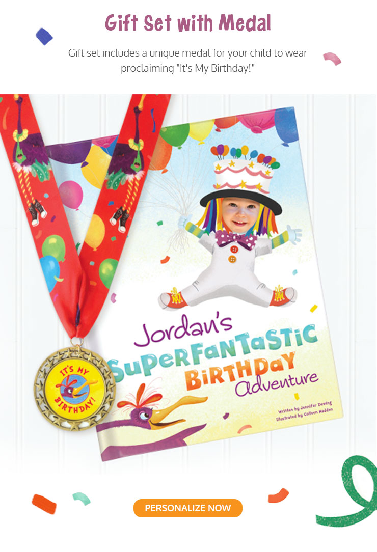 It's My Birthday! Personalized Storybook with Medal