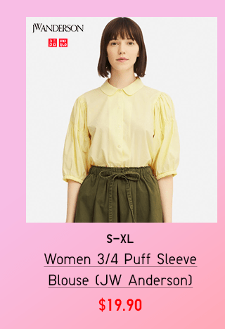 BANNER1 PDP1 - WOMEN 3/4 PUFF SLEEVE BLOUSE (JW ANDERSON)