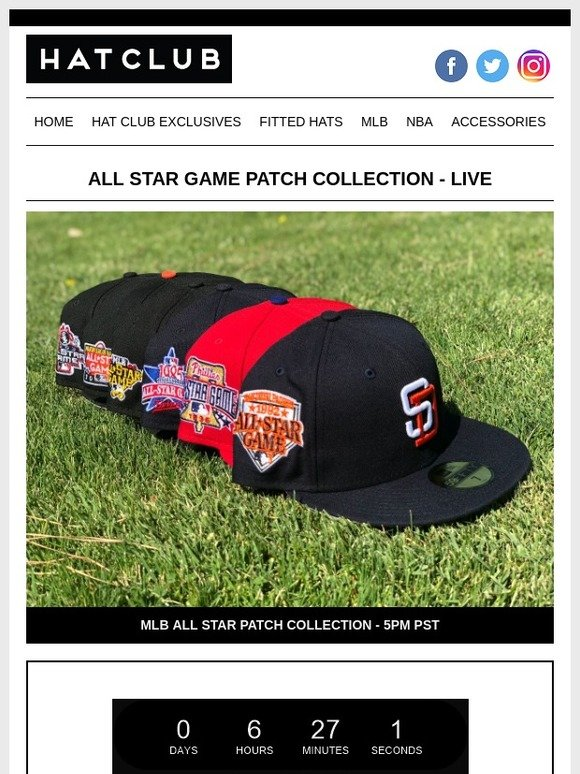 best service a6580 4675f Hat Club  All Star Patch Collection is Live ⚾   Milled