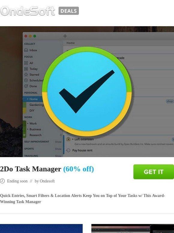torrentsoft: 2Do Task Manager (60% off) | Milled